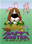 Basset Hound - Happy Easter