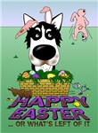 Siberian Husky - Happy Easter