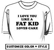 I Love you like a Fat Kid loves cake ~