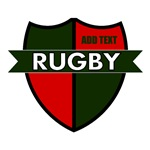 Rugby Shield Green Red