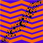 Halloween Chevron Moon Stars