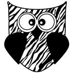 Zebra Stripe Owl in Black and White