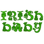 Irish Baby With Shamrocks