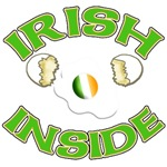 Irish Inside Cute Fried Egg Irish Flag