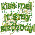 Kiss Me Birthday with Sprinkles of Shamrocks