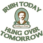 Irish Today Hung Over Tomorrow Cool T shirts