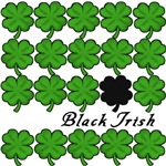 Black Irish with Black Shamrock Tshirts