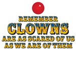 Clowns are scared