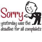 deadline for all complaints
