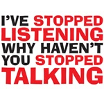 stopped talking