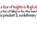 A feear of falling is illogical