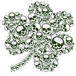 Gothic Skulls Shamrock Irish Goth