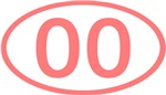 Number Ovals - 00 to 49 (Pink)