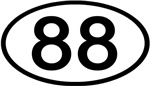Number 88 Oval (Black)