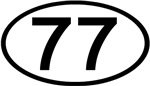 Number 77 Oval (Black)