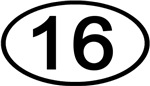 Number 16 Oval (Black)
