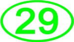 Number 29 Oval (Green)