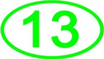 Number 13 Oval (Green)