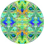 Mandala with Blue-Green Butterflies