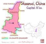 Shaanxi, China mini Map