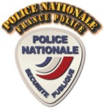 Police Nationale France Police with Text