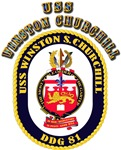 USS Winston Churchill - Crest