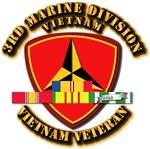 USMC - 3rd Marine Division w SVC Ribbons