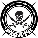Black Pirate Skull and Swords