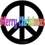 Merry Christmas Black Peace Sign