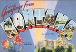 Montana Vintage Postcard
