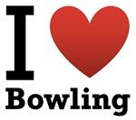 I Love Bowling light Tee