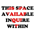 This Space Available Inquire Within / Heart