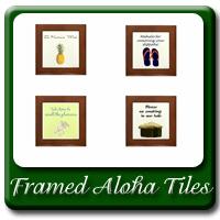 Framed Aloha Tiles