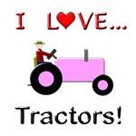 I Love Pink Tractors