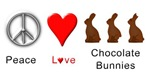 Peace Chocolate Bunnies