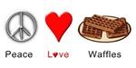 Peace Love Waffles