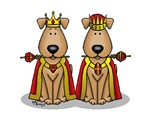 Dog/Puppy King & Queen (Brown)