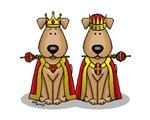 Dog/Puppy King & Queen (Brown)