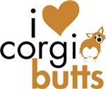 Heart Corgi Butts - Red & White Fluffy