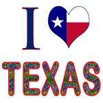 I (Heart) Love Texas Bluebonnet Flag