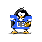 Blue Football Penguin