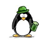 Green Beer Penguin