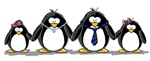 Penguin family - little brother big sister