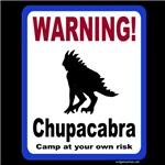 Chupacabra warning sign