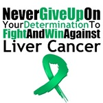 Liver Cancer Never Give Up Shirts & Gifts
