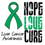 Hope Love Cure Liver Cancer Shirts & Gifts