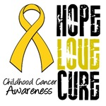 Hope Love Cure Childhood Cancer Shirts &amp; Gifts