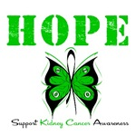 Hope Butterfly Kidney Cancer Shirts &amp; Gifts