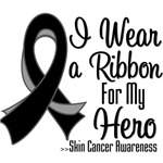 I Wear a Ribbon For My Hero Skin Cancer Shirts
