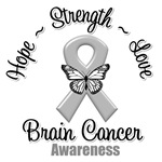 Hope Love Strength Brain Cancer Shirts